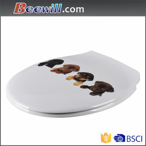 Hot Sale Printing Design Duroplast Toilet Seat Cover pictures & photos