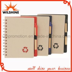 Recycled Paper Notebook with Paper Ball Pen for Promotion (SNB108A) pictures & photos