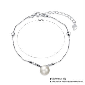 925 Sterling Steel Bracelet Fashion White Shell Bead Young Silver Bracelet Rope Chain pictures & photos