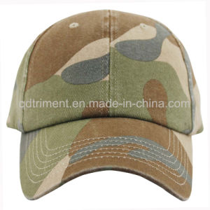 Heavy Washed Camoflage Chino Twill Sport Baseball Cap (TMB1268) pictures & photos