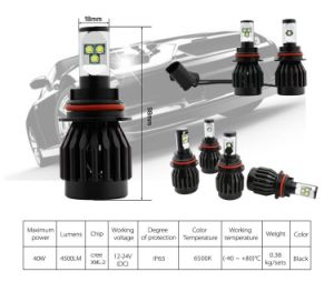All-in-One Structure IP65 Waterproof 40W 4500lm LED Auto Lamp pictures & photos