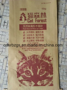 Colorful Printed Plastic Packaging PP Woven Cat Litter Bag / Sack pictures & photos