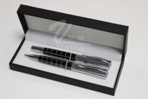 Black Blank Metal Pen Set Name Printed Pen pictures & photos