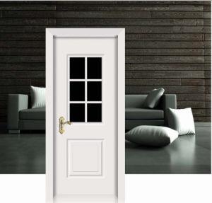 Flower Design White Classic Solid Wooden Door pictures & photos