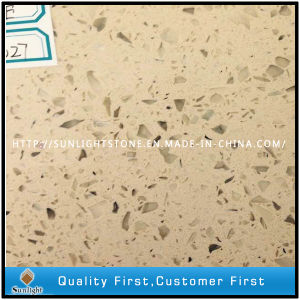 Beige/Yellow Artificial Stone Quartzite for Tiles and Flooring pictures & photos