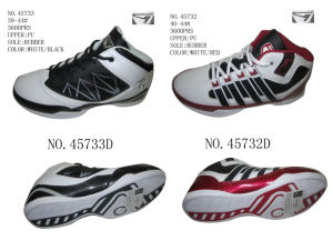 No. 45732 Two Color Men Stock Basketball Shoes pictures & photos