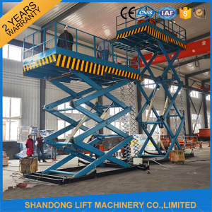 Stationary Hydraulic Auto Scissor Goods Lift with Ce pictures & photos