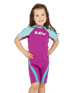 Toddler Girls Lycra Short Sleeve Flat Lock Spring Suit/Wetsuit pictures & photos