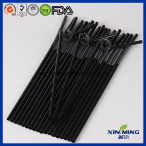 Bar Supply Black Plastic Artistic Plastic Drinking Straws& pictures & photos