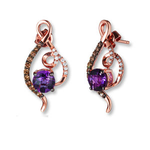Fashion 925 Silver Jewelry Stud Earrings with Amethyst Gemstone pictures & photos
