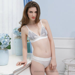 2017 Super Thin Wire-Free Ladies Lace Lingerie pictures & photos