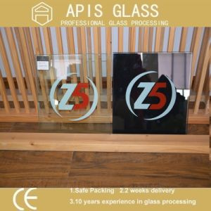 Colored Glass /Painting Glass/ Silk Screen Glass (White, Black, Red, Yellow) pictures & photos