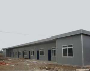 Cheap Container House with Steel Base for Staff Accommodation, Dormitory pictures & photos