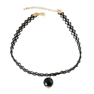 Handmade Tattoo Choker with Black Pearl Pendant Necklace pictures & photos