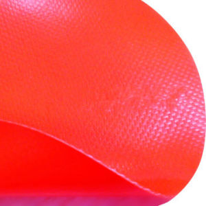 Fluorescent Fr (fire-retardant) Glass Fiber PVC Laminated Fabric for Protective Clothes pictures & photos