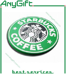Fashion Soft PVC Coaster with Customized Shape and Logo pictures & photos