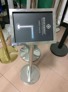Stainless Steel Queue Stand with A4 Sign Holder