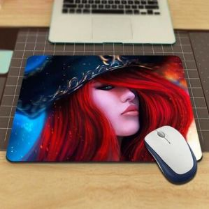 Custom Laptop Mouse Pad with Cute Anime Photo Printed pictures & photos