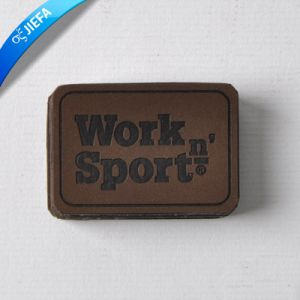 Wholesale Leather Patch Label for Jeans pictures & photos