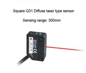 Jgq31 Long Sensing Range 300mm Diffuse Type Laser Sensor
