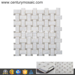 Bianco Carrara Basketweave Mosaic Tile