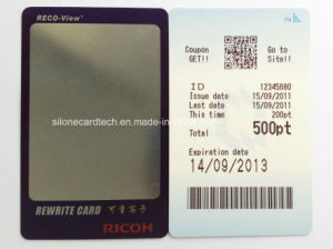 Rewritable Plastic Card for Membership Card at SPA &Salon