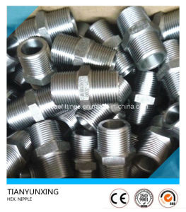 Galvanized Forged Tbe Hex/Hexagonal Threaded/Thread Nipple pictures & photos