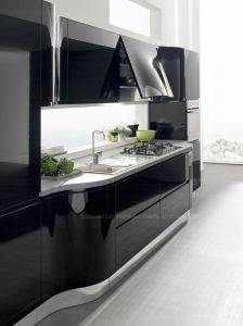 Black Lacquer Kitchen Cabinets china black modern design customize lacquer kitchen cabinet