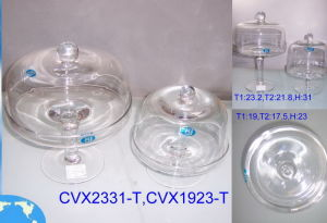 Clear Glass Cake Dome Cover and Tray (DP-001(JH)) pictures & photos