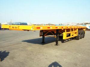 40ft 40 Ton 3 Axle Fuwa Flatbed Semi Trailer