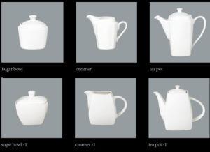 Square Tea Pot, Sugar Pot, Creamer
