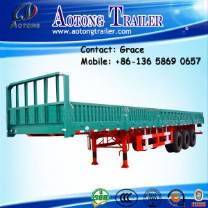 3 Axles 40 Ton-60ton Side Board Semitrailer, Side Boards Flatbed Semi Trailer, Flatbed with Side Wall, Open Side Board Cargo Semi Trailer, Sidewall Semi Trailer pictures & photos