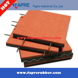 China Factory Price Interlock Rubber Floor Tile Used on Garden pictures & photos