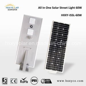 60W LED Lamp All in One Solar PV System Motion Sensor Light Sensor Solar Remote Area Light Street Pathway Light pictures & photos