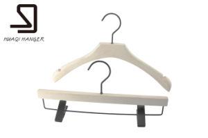 Laminated White Coat Wood Hanger pictures & photos