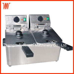 4+4L Double-Cylinder Deep Fryer Electric pictures & photos