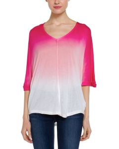Ladies′ Ombre DIP Dye T-Shirt with Dolman Sleeves Dtt9-1
