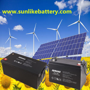 Solar Wind Deep Cycle Power Battery 12V200ah for Solar Storage pictures & photos