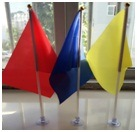 Supply 14 * 21 Cm Suckers Car Flag Rubber Car Flags Promotion pictures & photos