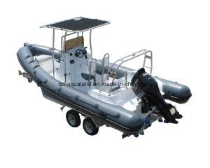 Aqualand 21feet 6.5m Rib Motor Boat/Rigid Inflatable Diving Boat (RIB650B) pictures & photos