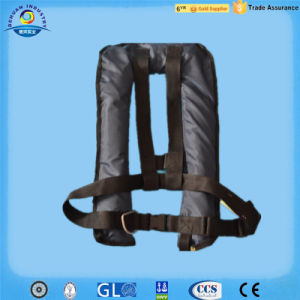 150n Automatic Inflatable Life Jacket with Stainless Buckle and D Ring (DH-034)