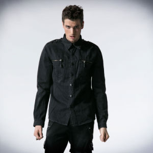 Punk Fashinable Shock Dark Alternative Gothic Man Shirt (Y-501) pictures & photos