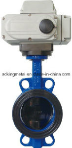 Cast Iron Wafer Electric Op Butterfly Valve Pn16 pictures & photos