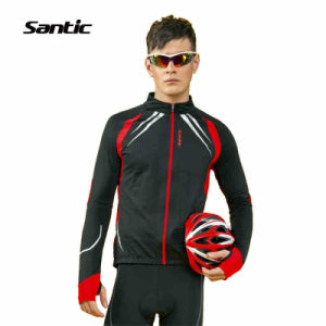New Santic Fleece Thermal Long Jersey & Winter Black Red Jacket