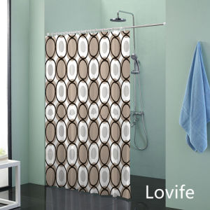 Shower Curtain Bathroom Waterproof Curtain (JG-224) pictures & photos
