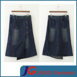 Fashion Wholesale Ladies Denim Long Skirt (JC2054) pictures & photos