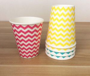 Double Wall Paper Cup with Color Mixed pictures & photos