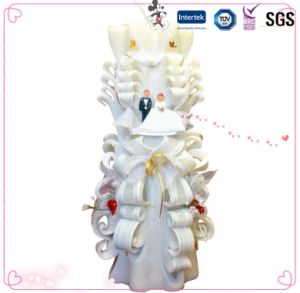 China Wholesale Wax Carving Wedding Candle pictures & photos
