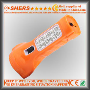 Rechargeable 1W LED Torch with 12PCS LED Study Lamp (SH-1912) pictures & photos