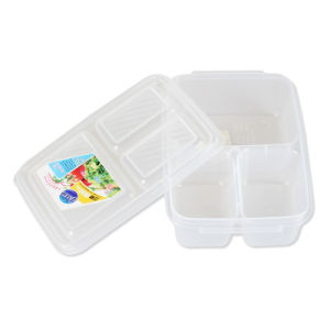 2016 New Design Transparent 3 Component Grid Lunch Box Container Set pictures & photos